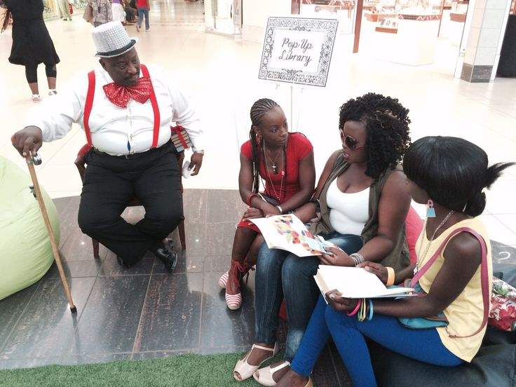 Mr Book, Hlubi and two older guests
