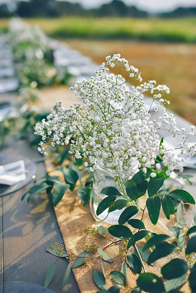 Babys Breath Wedding Ideas For Rustic Weddings ❤ See more: http://www.weddingforward.com/babys-breath-wedding-ideas/ #weddings