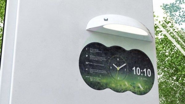 Smartphone connected projection clock