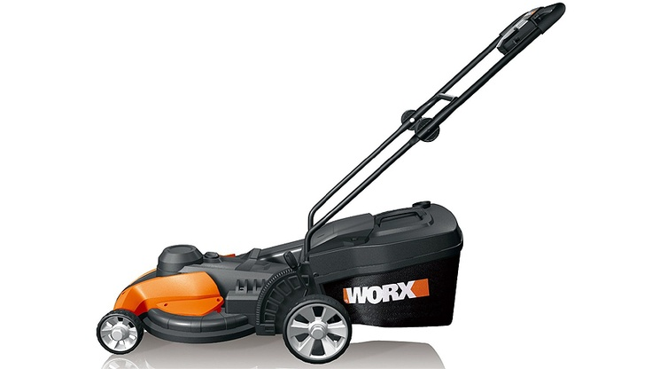 WORX WG708 17-Inch Electric Mower  http://www.onelastreview.com/worx-wg708-17-inch-electric-mower-review    The WORX 17-Inch 13 Amp Electric Mower has 3 functions for maintaining the health of your yard. Mulch, bag, or discharge your clippings. The bagging option allows the collection of the clippings for compost or disposal.