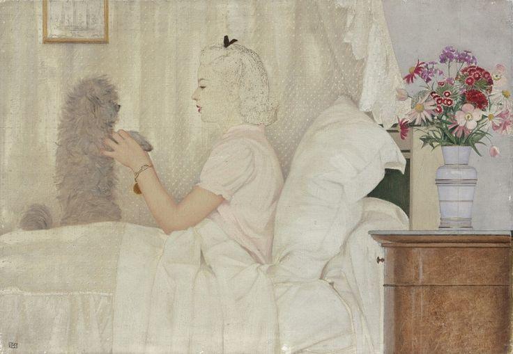 Bernard Boutet de Monvel (1881-1949), Sylvie et Champagne, huile sur toile, vers 1944, 38 x 55 cm. Estimation : 2 000/2 500 € Vendredi 14 octobre, salle 1-7 - Drouot-Richelieu, 13 h 30. Ferri OVV. Cabinets Brame & Lorenceau, Déchaut - Stetten, de Bayser.