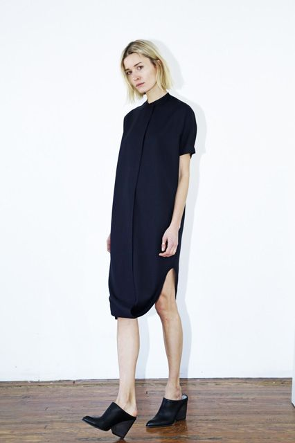 Easy Work Dresses For Rushed Mornings #refinery29  http://www.refinery29.com/easy-work-dresses#slide-10  Cement your cool-kid status in the office: This twisted-hem shirtdress is unlike any other.