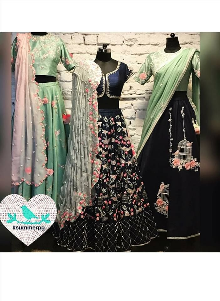 Bird cage lehenga. Summer by  Priyanka Gupta new lehengas. 03 February 2017