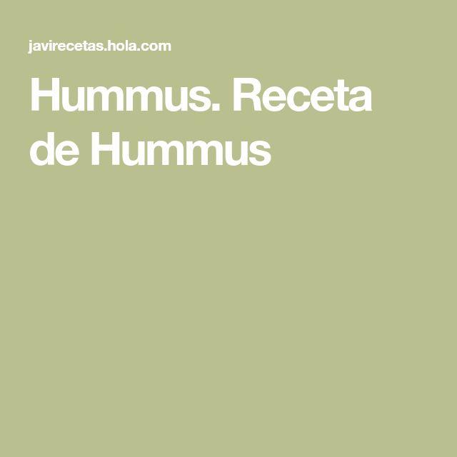 Hummus. Receta de Hummus