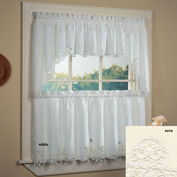 40 Best Images About Lacey Kitchen Curtains On Pinterest