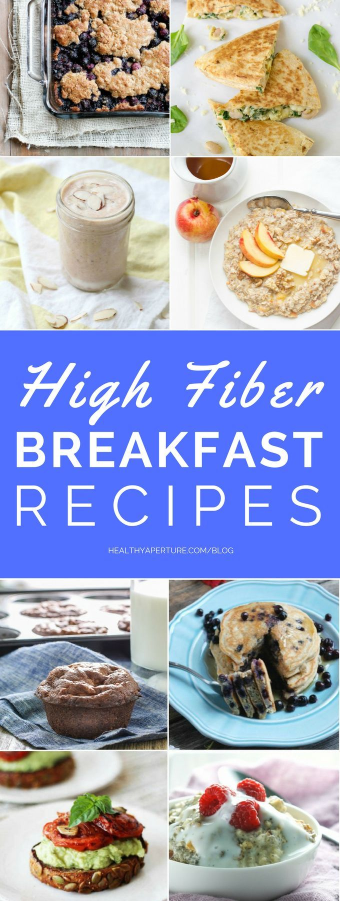 These High Fiber Breakfast Recipes are packed with healthy ingredients and will help keep you full until lunch time.