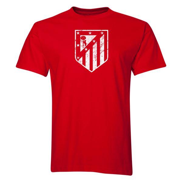 Atletico Madrid Distressed Crest T-Shirt