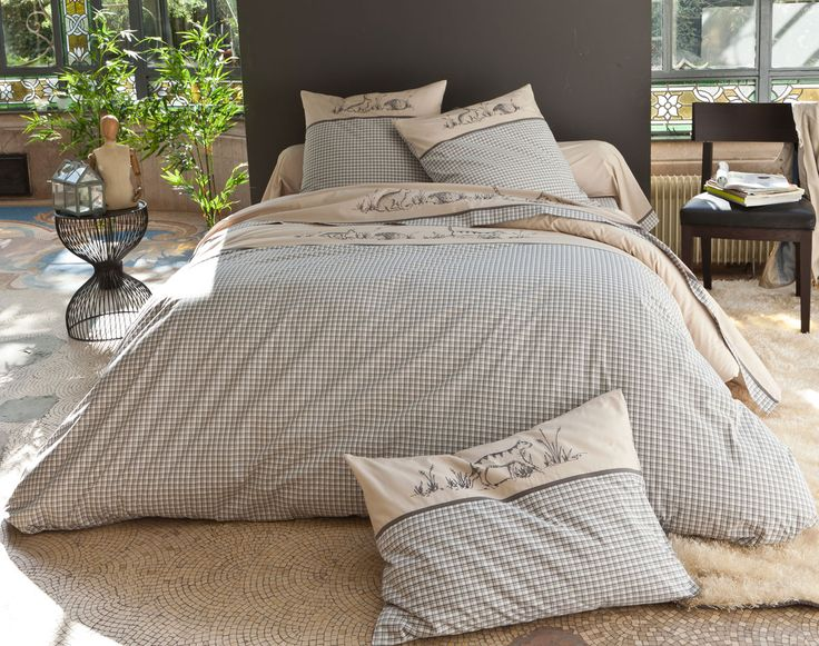 linge de lit maison du monde parure da letto x cm bianca in cotone sans souci with linge de lit. Black Bedroom Furniture Sets. Home Design Ideas