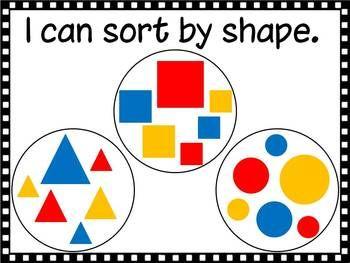 I Can Sort Math Posters - D Conway - TeachersPayTeachers.com