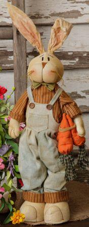 Spring Home Decor, Soft Sculptured Bunny, Easter Decor, Primitive Decor, Country Decor