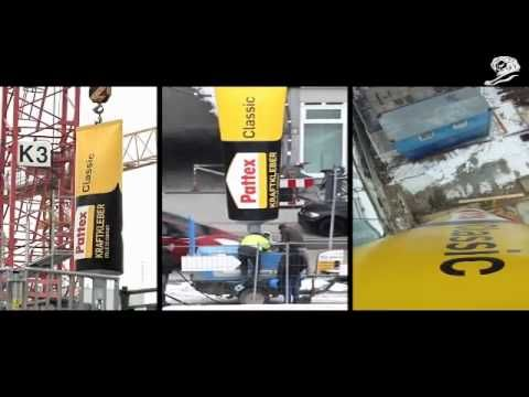 Kako se reklamirati sa Henkel-ovim proizvodom Pattex-om: tuba na kranu drži mašine i betonski blok - YouTube