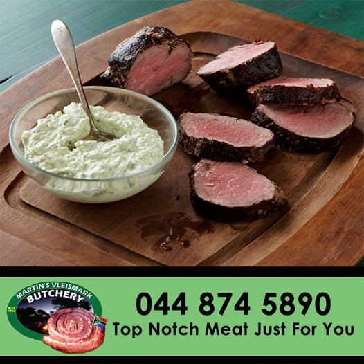 Don't know what to make for dinner? Try out this recipe for #Beef Tenderloin with Cool Horseradish-Dill Sauce for full recipe click here: http://on.fb.me/1nEqORc. #butchery