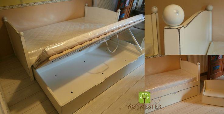Gömböc ágy, ágyneműtartós vendégággyal