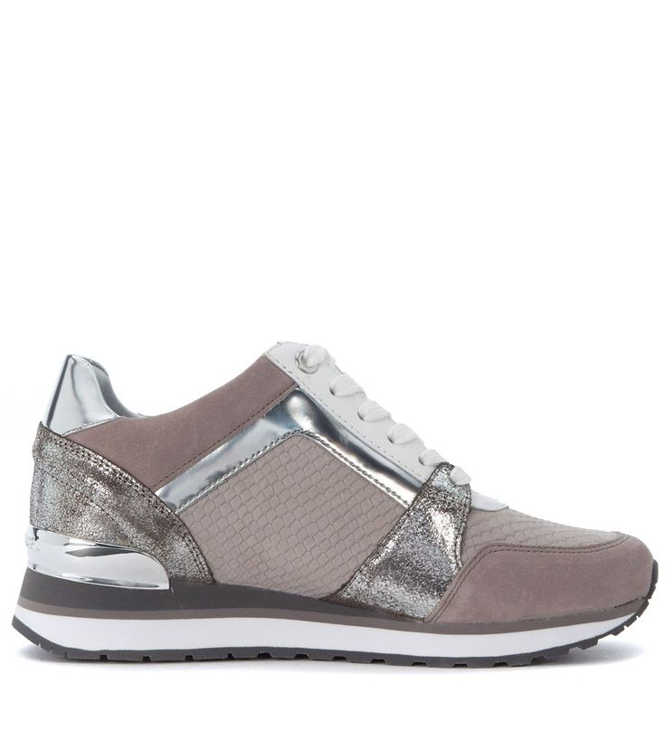 MICHAEL KORS | Michael Kors Sneaker Michael Kors Billie Pink And Silver Leather #Shoes #Sneakers #MICHAEL KORS