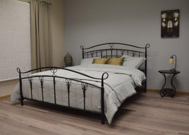 Bruxelles bed 180cm mat zwart