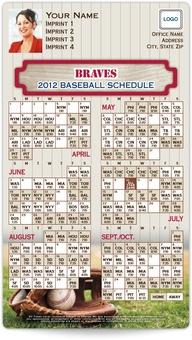 Atlanta Braves Baseball Schedule Magnets
