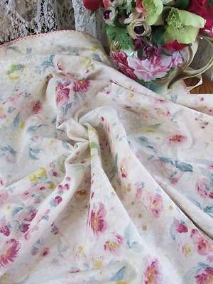 Waterwashed Florals Birds Victorian Tablecloth Table Cover Early 1900s | eBay