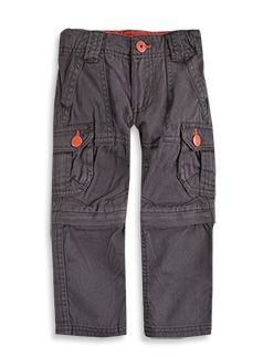 Zip off cargos.  Worn short by Big Brother who hates long pants.  #patchholidayfun