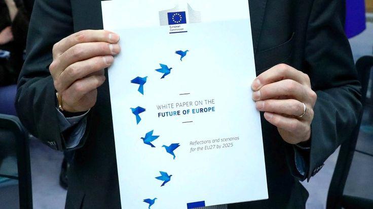 Weißbuch zur Zukunft Europas: wie soll es wietergehen nach 70 Jahren-zwischen losen Binnenmarkt und Vertiefung alles möglich