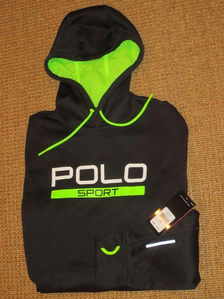 Ralph lauren polo sport men's hoodie black thermovent