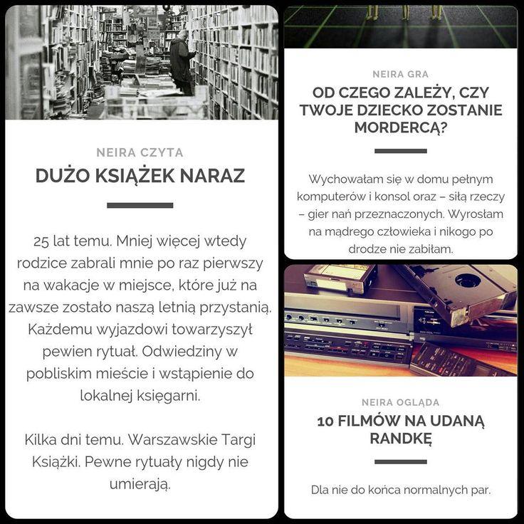 """Dzisiaj na blogu """"Dużo książek naraz"""" - czyli #WarszawskieTargiKsiążki i #księgarnie. ➡ neira.pl #blog #wpis #post #newpost  A poprzednio: #rodzice i #gry oraz #filmy i #randki.  #neiraczyta #neiragra #neiraogląda  #WTK #książki #targi #books #czytanie  #grykomputerowe #computergames  #randka #films #film #zakochani #para"""