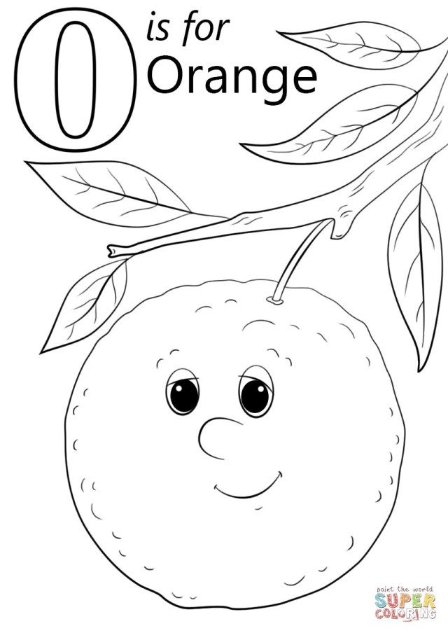 Orange Coloring Pages For Toddlers Coloring Pages Fruit