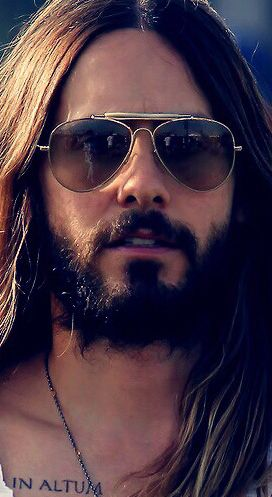 #JaredLeto.  The only man on Earth with this much facial hair that I've ever thought was attractive.