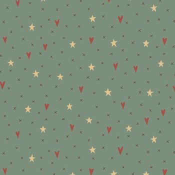 Hometown Holiday - Stars & Hearts in Blue (8144-11)