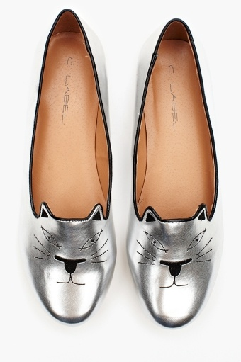 Wild Cat Loafer - Metallic Silver