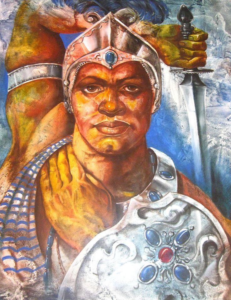 Padre Oggun, que mis enemigos sean tus enemigos y mi guerra sea tu guerra.