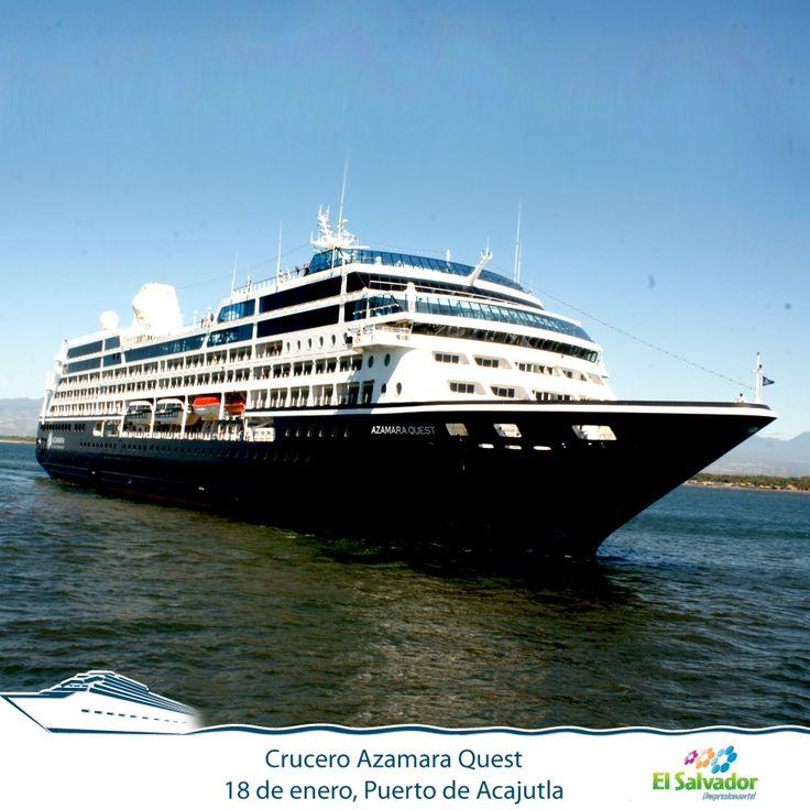 Llegada del crucero Azamara Quest al Puerto de Acajutla