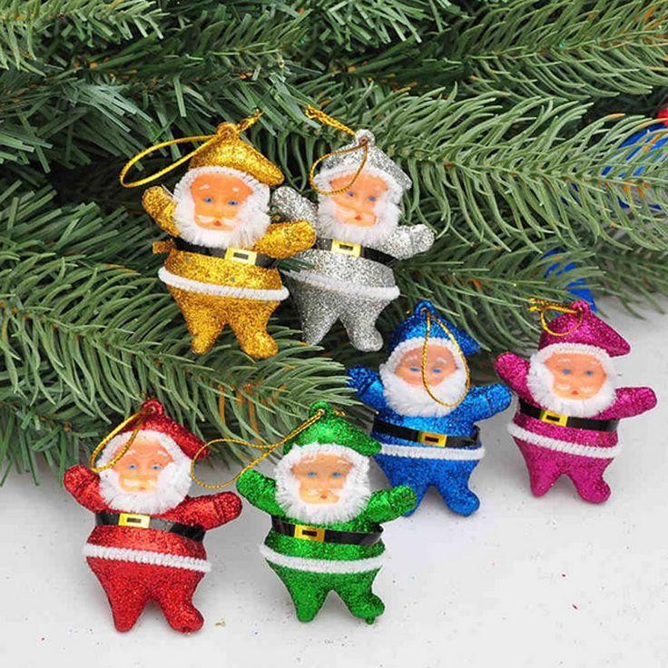 Ткань Повесить Санта Куклы Украшения Xmas Партия Украшение Поставки Рождественская Елка Украшения Для Дома Натал Навидад