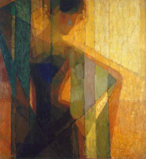 Love the colors and the the vague image of a woman.