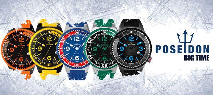 Ρολόγια POSEIDON BY KIENZLE σε έντονα χρώματα!!!  Δείτε όλη τη συλλογή μόνο στο ORLOI.GR! http://www.oroloi.gr/index.php?cPath=639
