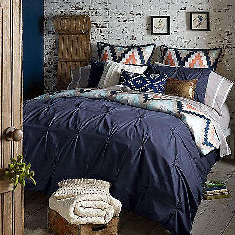 The reversible Blissliving Home Harper Navy Duvet Cover Set