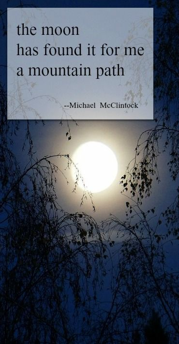 Tonight January 23rd 2016 finds a full moon!     Haiku poem: the moon-- by Michael McClintock.