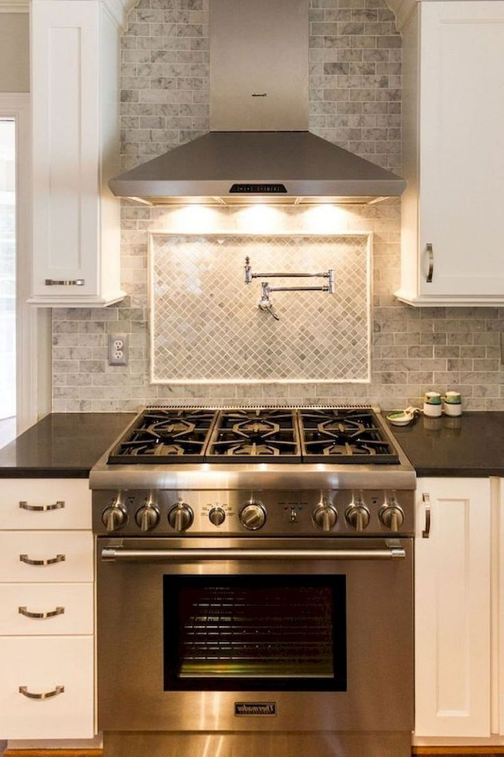Modern White Kitchen Cabinets And Backsplash Design Ideas