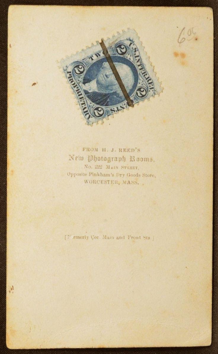 CDV Photo Woman Hoop Skirt Dress Civil War Tax Stamp by Reed's Worcester MA | eBay