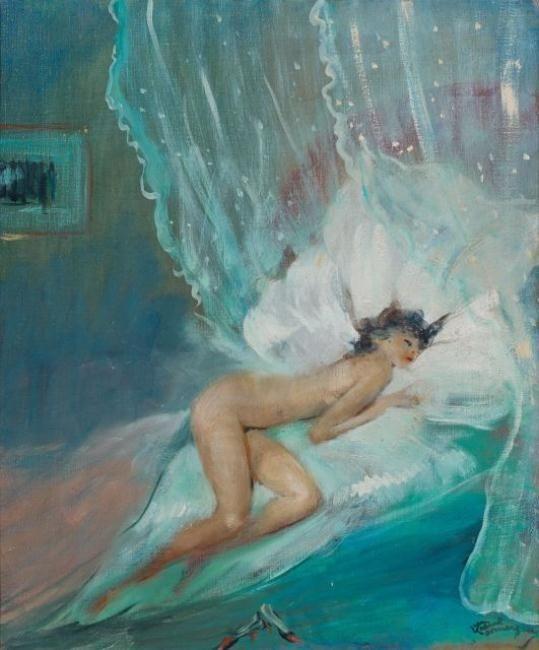 "Jean-Gabriel Domergue, ""The Clock Stopped"""