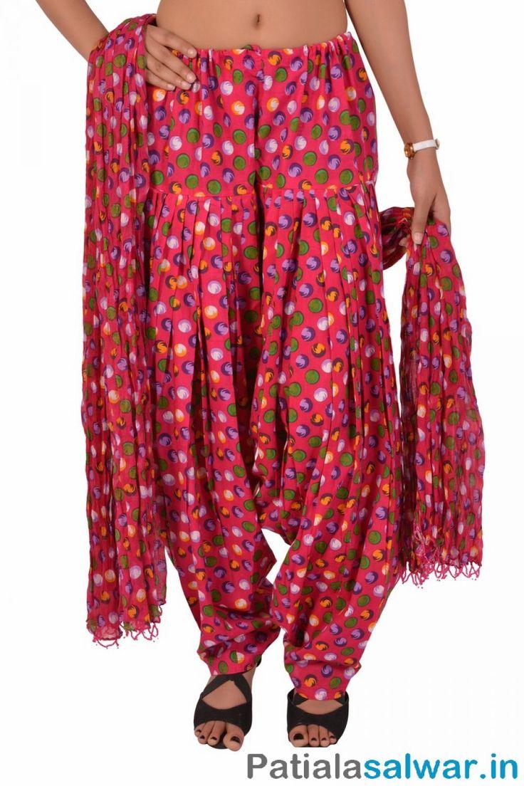 Multi Colors Cheap Patiala Salwar