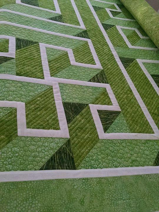 LABYRINTH QUILT.......PC...................Labyrinth Walk customer quilt 2/1/15