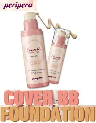 PERIPERA Cover BB Foundation - 3 Colors - SPF 37 PA++/Anti-Wrinkle/Whitening