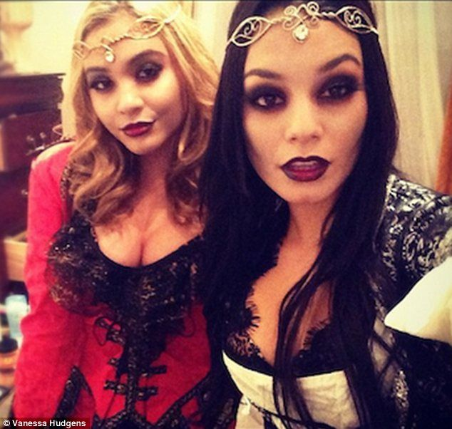 Vanessa Hudgens and Stella Hudgens shared photos of her sexy Halloween costume on her official website