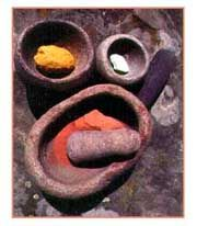 Mineral pigments used for cave painting