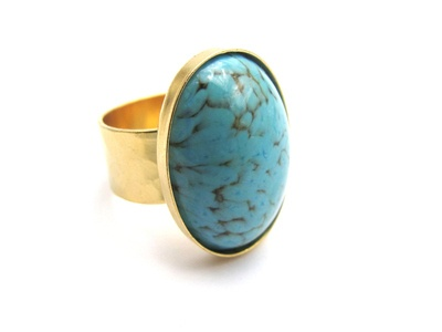 Vintage Turquoise Matrix Ring - absolutely stunning <3