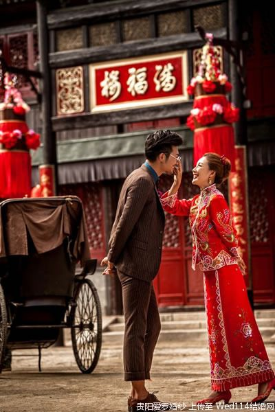 Authentical chinese couple. Lovely chinese wedding.