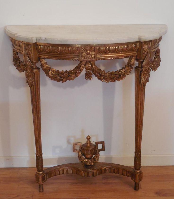 Console d'Applique Louis XVI En Bois Sculpté Et Doré XVIIIème, Antiquités… - 1288 Best Antique Furniture Images On Pinterest Furniture