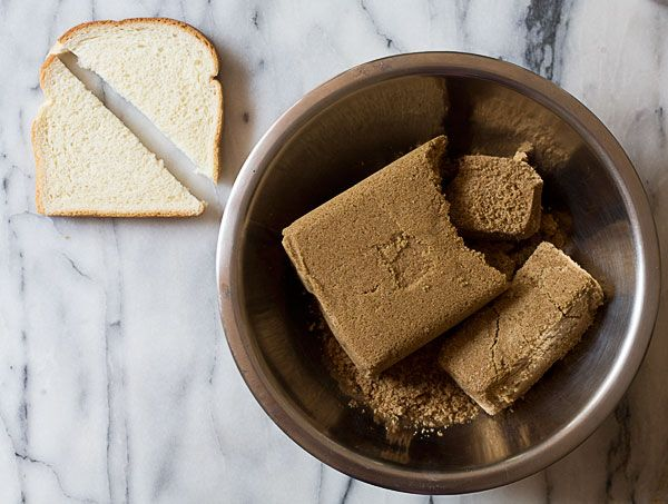 How To Soften Hard Brown Sugar...  Excellent blog post- I can't tell you how many times this has happened to me, but I could never remember how to get it to soften.