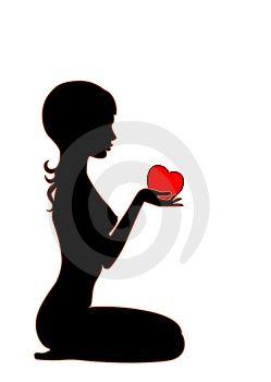 Heart and girls on pinterest