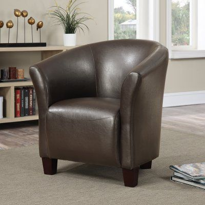Picket House Radford Faux Leather Accent Barrel Chair - URT890100CA